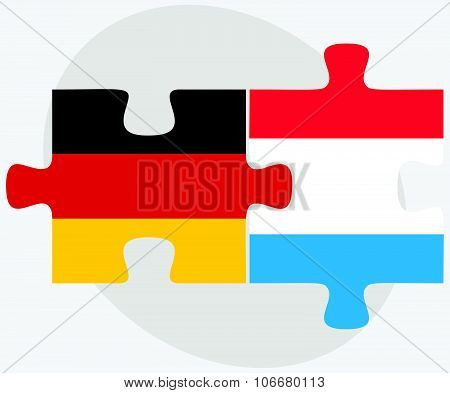 Germany And Luxembourg Flags