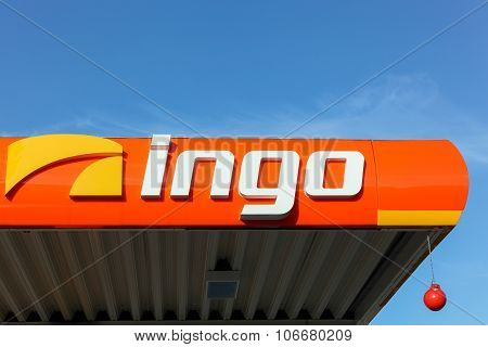 Ingo sign on a gas station