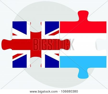 United Kingdom And Luxembourg Flags