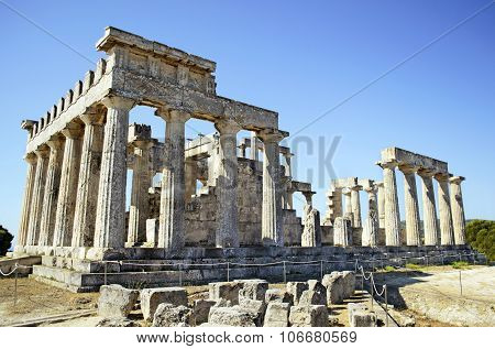 temple of Aphaia in Aegina Greece