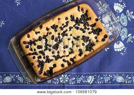 Cake with blueberry