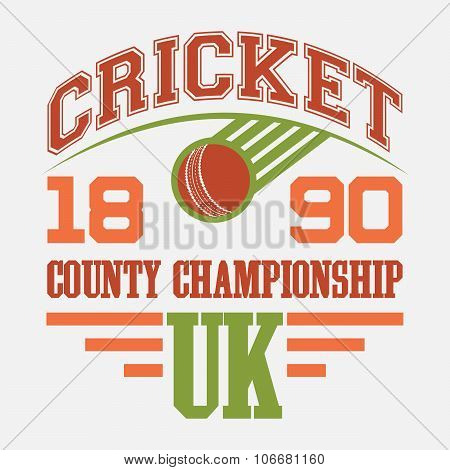 Cricket County Championship T-shirt