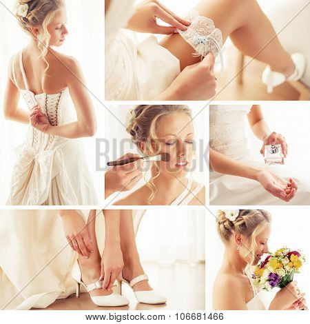 Beautiful wedding collage