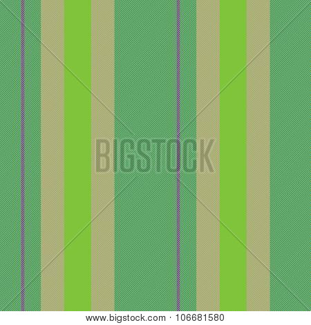 Abstract seamless vertically stripped green beige decor with cloth texture