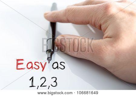 Easy Text Concept