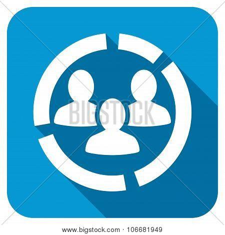 Demography diagram Longshadow Icon