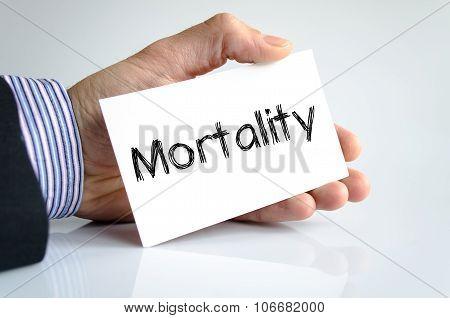 Mortality Text Concept