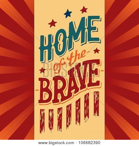 Home Of The Brave Illustration