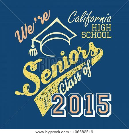 California High School Seniors T-shirt