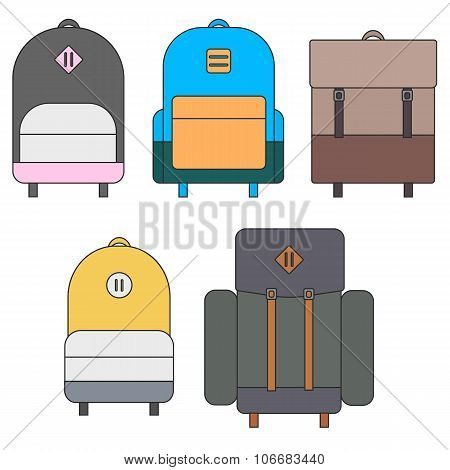 flat backpack templates