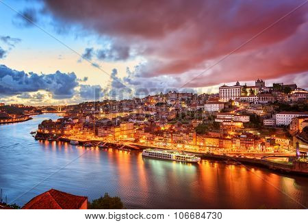 Dramatic Sunset In Porto, Portugal