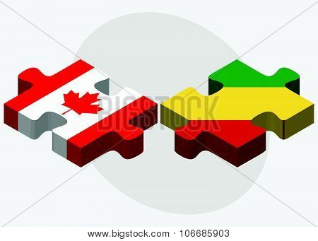 Canada And Congo Flags