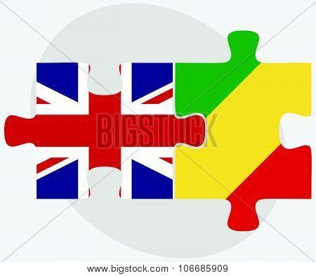 United Kingdom And Congo Flags