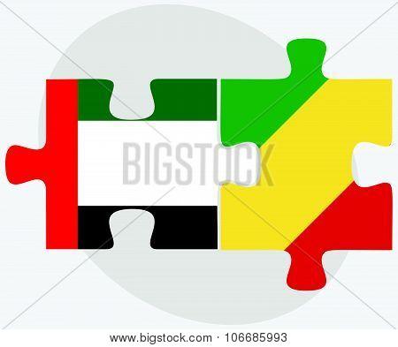 United Arab Emirates And Congo Flags