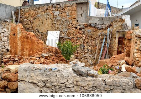 Ruined House In The Old Part Of Malia.