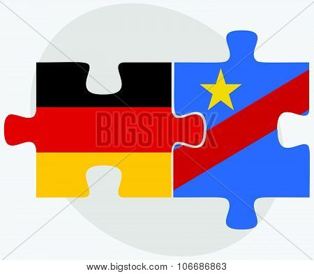 Germany And Democratic Republic Congo Flags