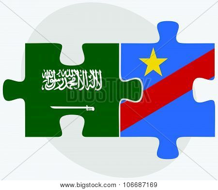 Saudi Arabia And Democratic Republic Congo Flags