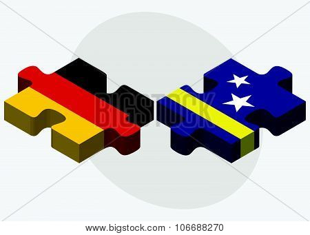 Germany And Curacao Flags