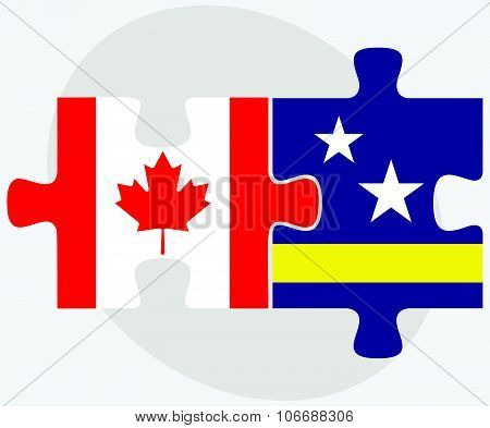 Canada And Curacao Flags