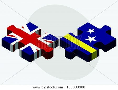 United Kingdom And Curacao Flags