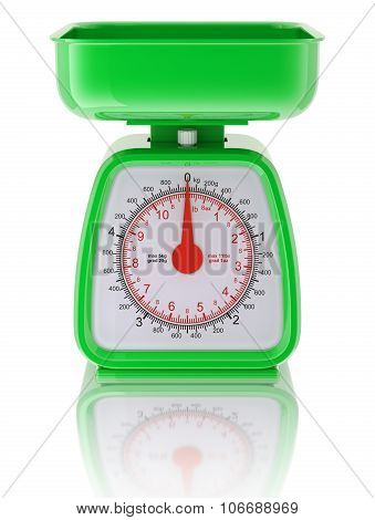 Green kitchen scale