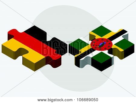 Germany And Dominica Flags