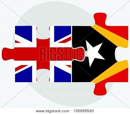 United Kingdom And East Timor Flags