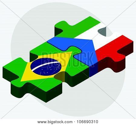 Brazil And Equatorial Guinea Flags