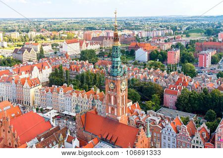 Gdansk. Top view.