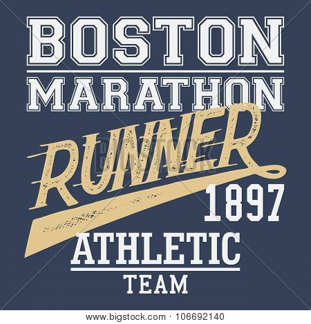 Boston Marathon Runner T-shirt