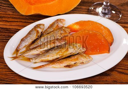 Grilled Fish With Pumpkin