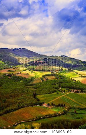 Rural Landscape Of valley Chianti, Tuscany.