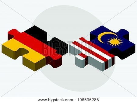 Germany And Malaysia Flags