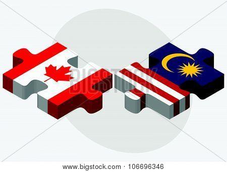 Canada And Malaysia Flags