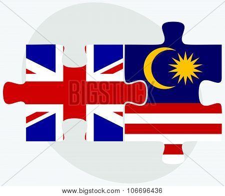 United Kingdom And Malaysia Flags