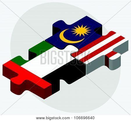 United Arab Emirates And Malaysia Flags