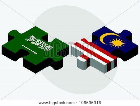 Saudi Arabia And Malaysia Flags