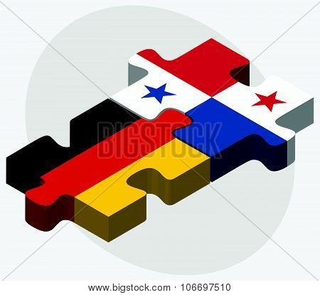 Germany And Panama Flags