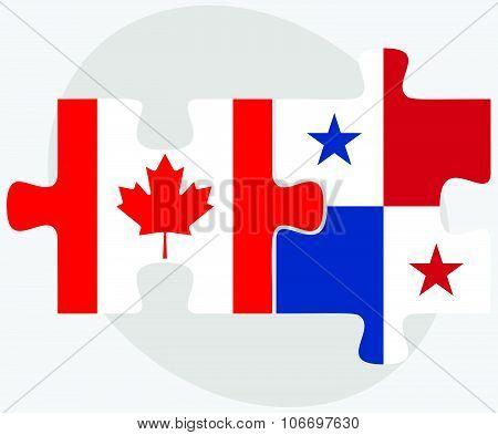 Canada And Panama Flags