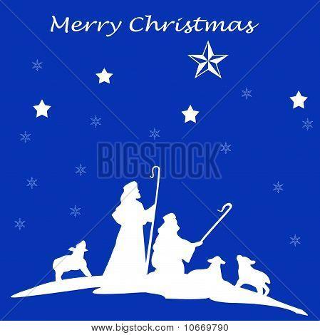 Merry Christmas Shepherd Card