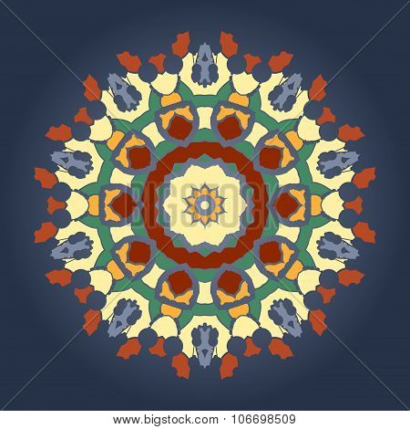 Ornament beautiful  invitation card cover  with mandala. Geometric circle element made in vector. Pe