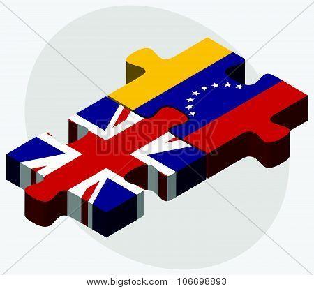 United Kingdom And Venezuela Flags