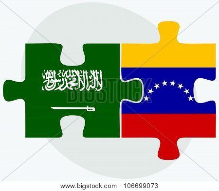 Saudi Arabia And Venezuela Flags