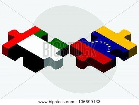 United Arab Emirates And Venezuela Flags