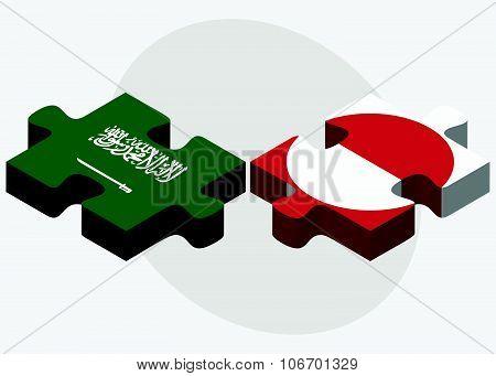 Saudi Arabia And Greenland Flags