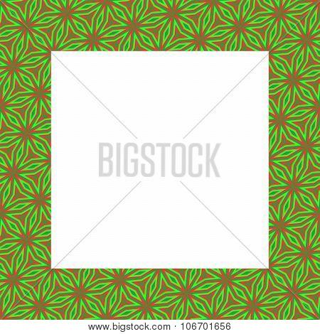 Decorative floral orange green mount
