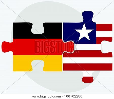 Germany And Liberia Flags