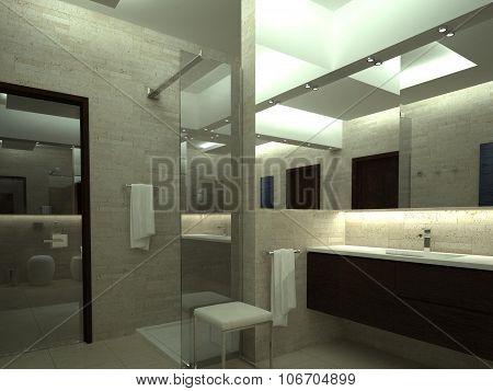 render of luxury bathroom
