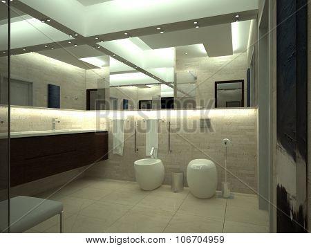 render of luxury toilet