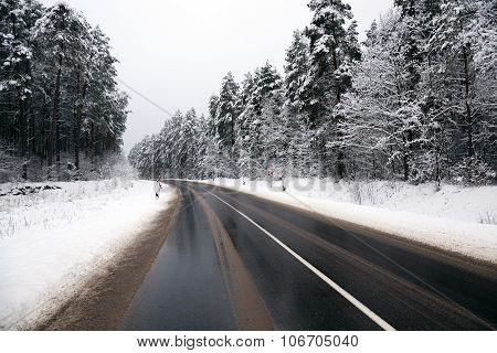 winter road . track.